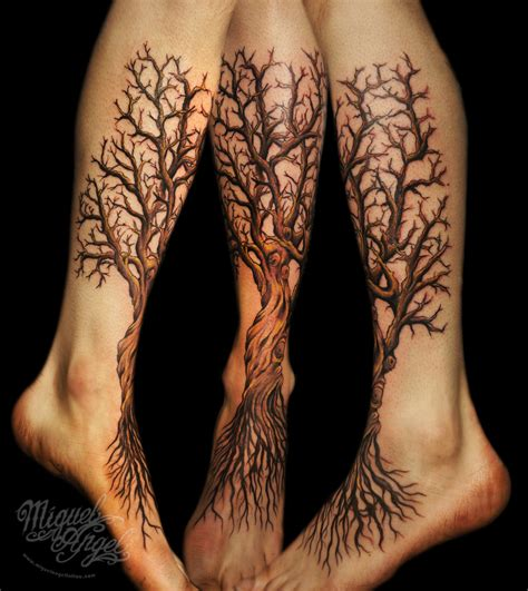 leg tree tattoos 30 creative tree roots designs amazing ideas