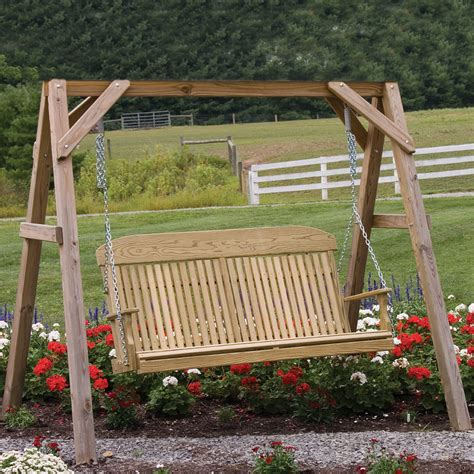 handmade swings amish patio pinewood swings gliders classic highback