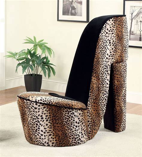 leopard accent chair heely leopard flannelette fabric large accent chair with