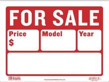 car auto for sale sign window large 16 quot x12 quot w price
