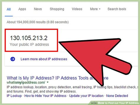Search Address By Ip Address 7 Ways To Find Out Your Ip Address Wikihow