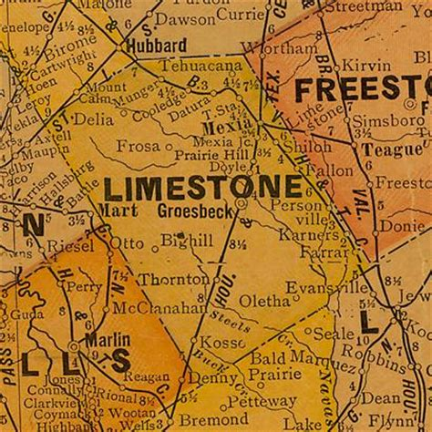limestone county texas map burleson county texas