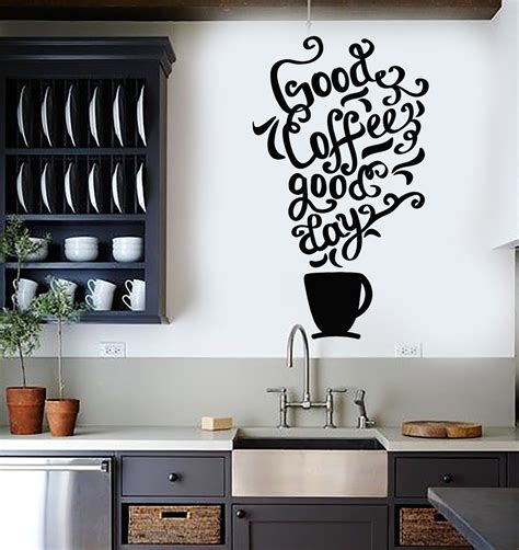 wall stickers shop vinyl wall decal quote coffee kitchen shop restaurant cafe