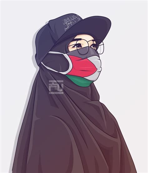 vector hijab palestine atahmadfu aahmadfu