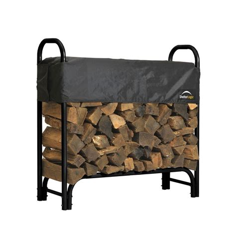 diy firewood rack cover shelterlogic 4 ft firewood rack with cover 90401 the home depot
