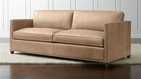 Leather Nailhead Sofa by Dryden Leather Sleeper Sofa With Nailheads Crate