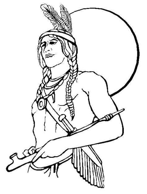 American Indian Coloring Pages thanksgiving coloring pages