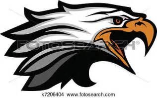 Hockey Wall Mural clipart of mascot head of an eagle vector illu k7206404