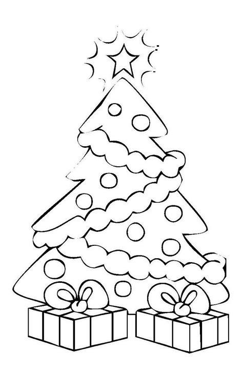 malvorlage weihnachtsbaum mit geschenken pictures