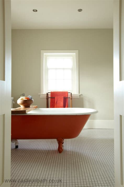 orange bathtub orange in bathroom cast iron bath companycast iron bath