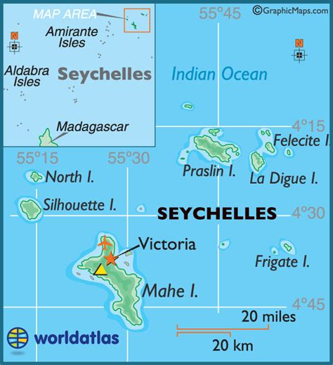 seychelles map seychelles large color map