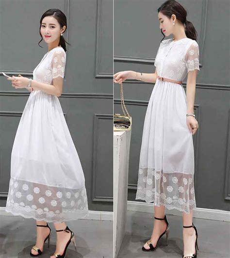 maxi dress putih terbaru slmn fashion