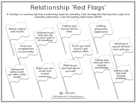 Healthy And Unhealthy Relationships Worksheets by Healthy Relationships Worksheets