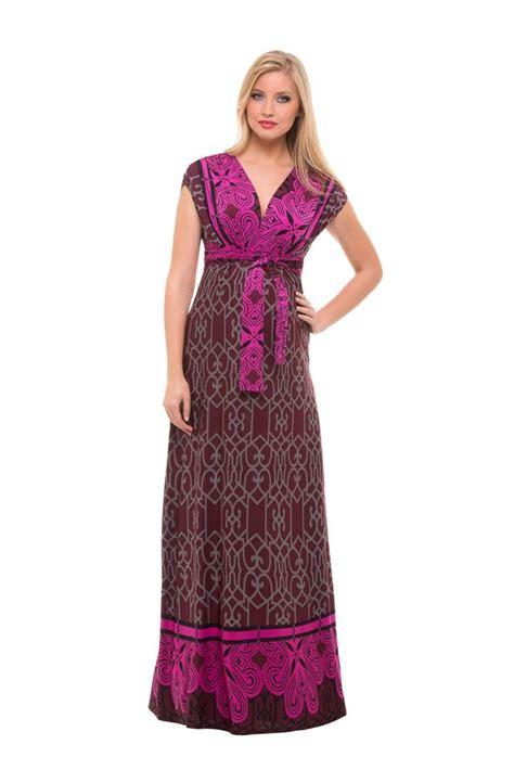 Ella Maxi by Ella Maxi Maternity Dress In Arabesque Print By Olian
