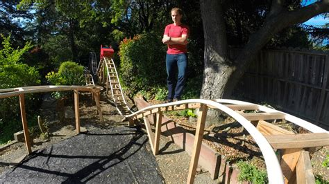 amazing dad builds a roller coaster for his son in backyard