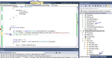 xamarin forms html xamarin forms can not read text file from null returned