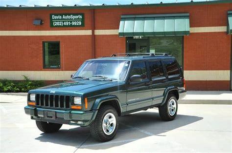 jeep cherokee xj sunroof purchase used 2000 cherokee sport xj classic trim