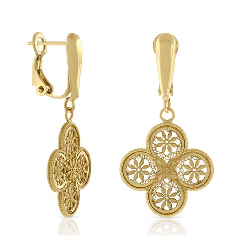 Clover Earring toscano clover drop earrings 18k ben bridge jeweler