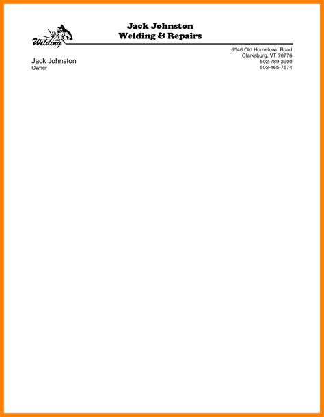personalized letterhead templates personal letterhead templates portray exles 13