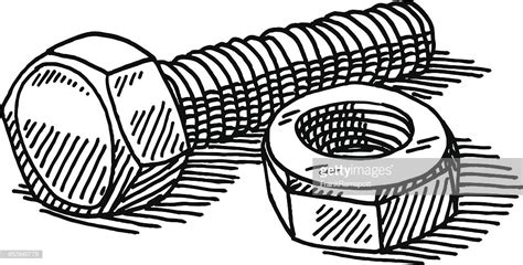 bolt detail drawing nut bolt drawing vector art getty images