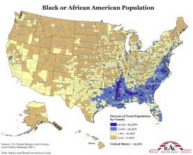 Usa Population Map by Map Of Black Population In Usa Free Printable Maps