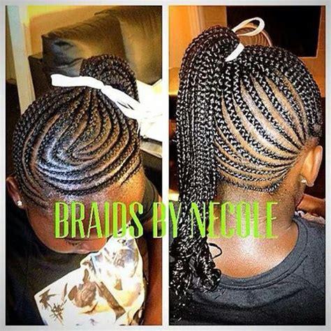 short braid and ponytails designs kids cornrow ponytail braids twists natural updos