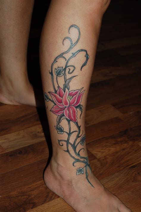 tattoo flower leg leg flower tattoo picture at checkoutmyink com