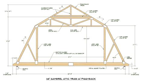 house trusses design 24 ft roof truss plans