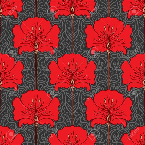 floral pattern artists art nouveau flower patterns www imgkid com the image