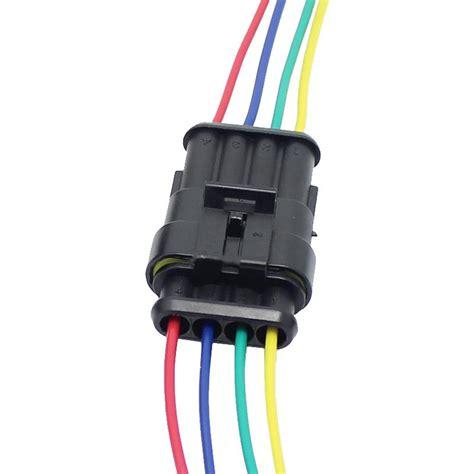 4 pin waterproof connector 4 way connector car truck boat