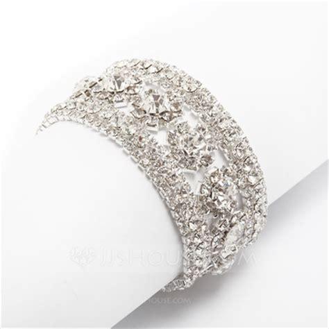 Sandal Wedges Wanita Silver Js 335 bangles cuffs alloy with rhinestone bracelets