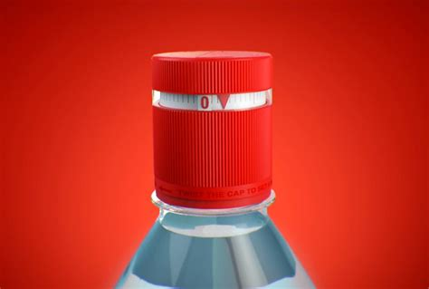 designboom water bottle vittel refresh water bottle cap reminds you to stay hydrated