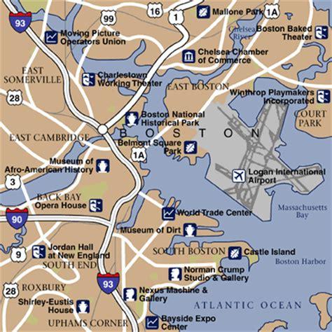 boston airport map boston massachusetts hotels and boston massachusetts city guide hotel reservations