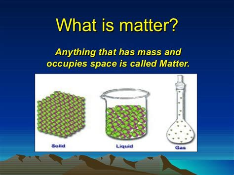 what is matter presentation of science matter