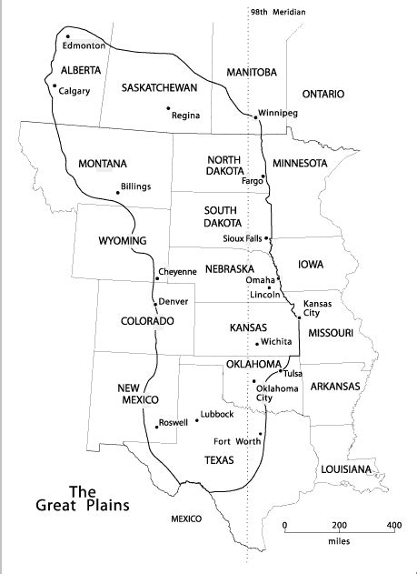 plains of map map of the great plains center for great plains studies