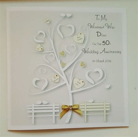 50th wedding anniversary cards uk 2 large personalised 50th golden anniversary card