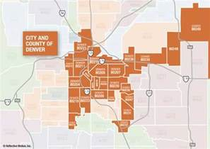 Denver Zip Codes Map by City And County Of Denver Zip Code Map