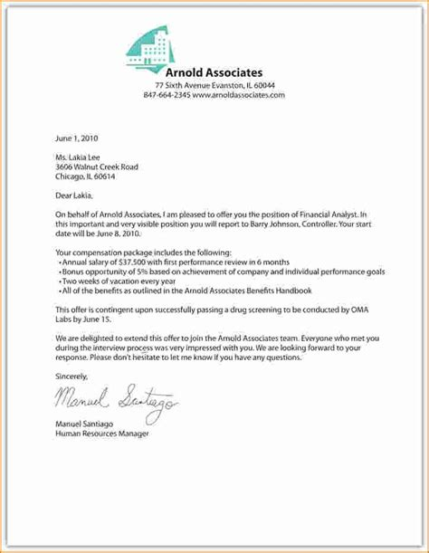 Executive Offer Letter Template by 9 Offer Letter Assistant Cover Letter Offer Letter