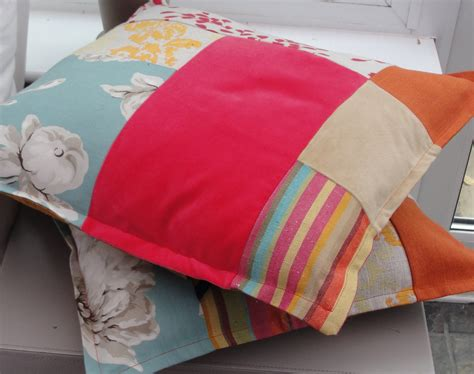 Sewing Cushion Covers by Eco Patchwork Cushion Covers Sewing Projects