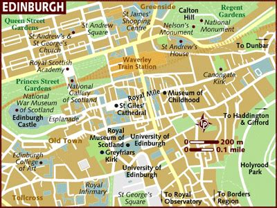 printable street map edinburgh edinburghcity map 第14页 点力图库