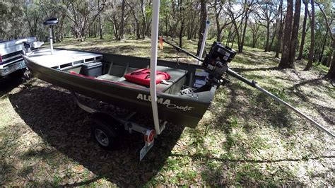 alumacraft jon boat 12ft 1436 lt alumacraft jon boat to bass boat youtube