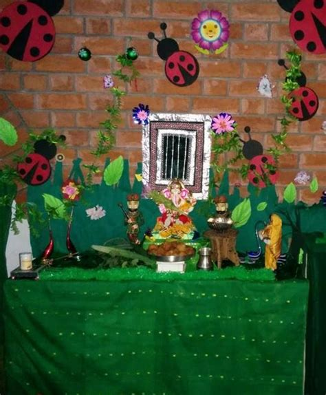 ganpati decoration at home ganpati decoration ideas at home ganpati decoration