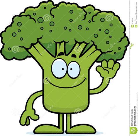 vegetables z wave broccoli waving stock vector image 47365097