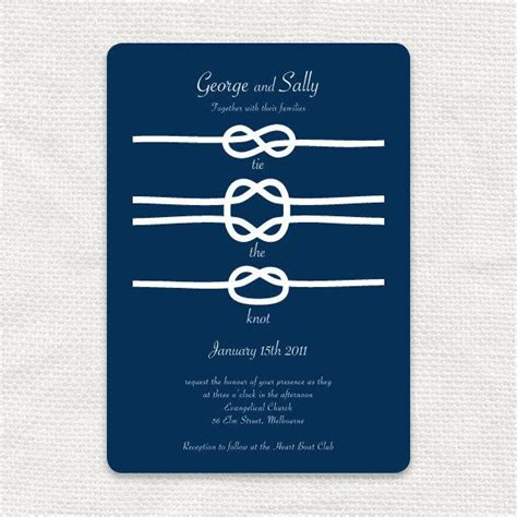 Wedding Invitations Knot by Printable Wedding Invitation Nautical Boat Navy