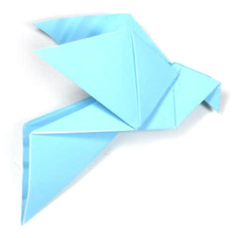 Easy Origami Dove - how to make a traditional origami dove page 13