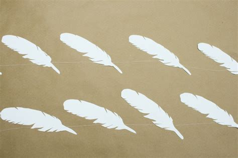 Feathers Out Of Paper - mr kate diy paper feather chain