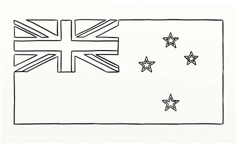New Zealand Flag Free Coloring Pages New Zealand Flag Coloring Page