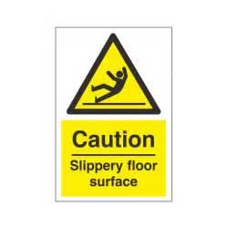 caution slippery floor surface safety sign hazard