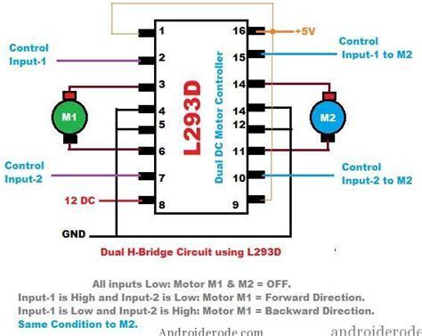 integrated circuit h bridge l293d dual h bridge motor driver datasheet wroc awski informator internetowy wroc aw