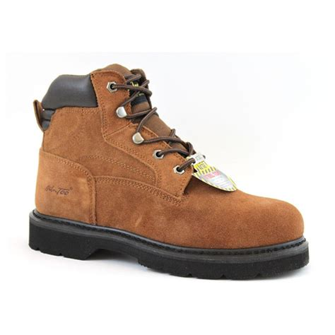 mens suede work boots 6 quot s ad tec 174 suede steel toe work boots brown